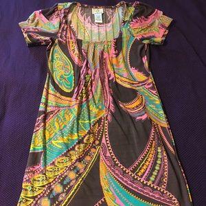 Bright paisley summer dress